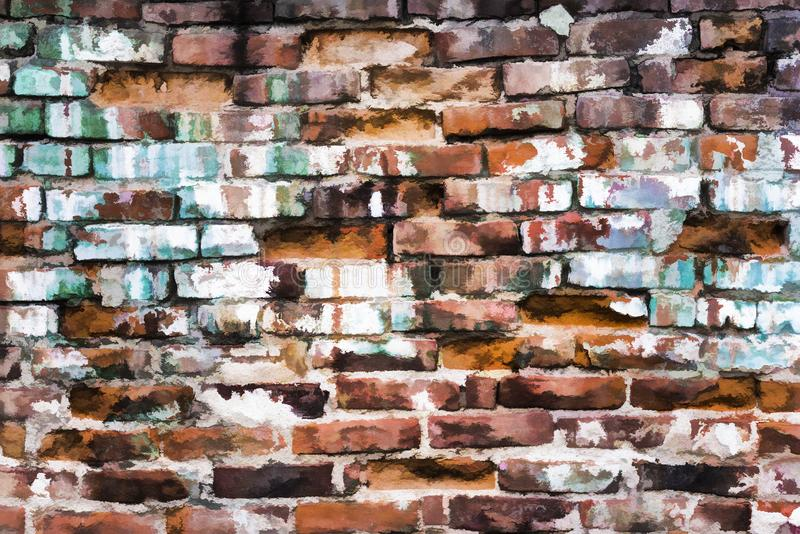 Fundo da textura da parede de tijolo com efeito animado foto de stock royalty free