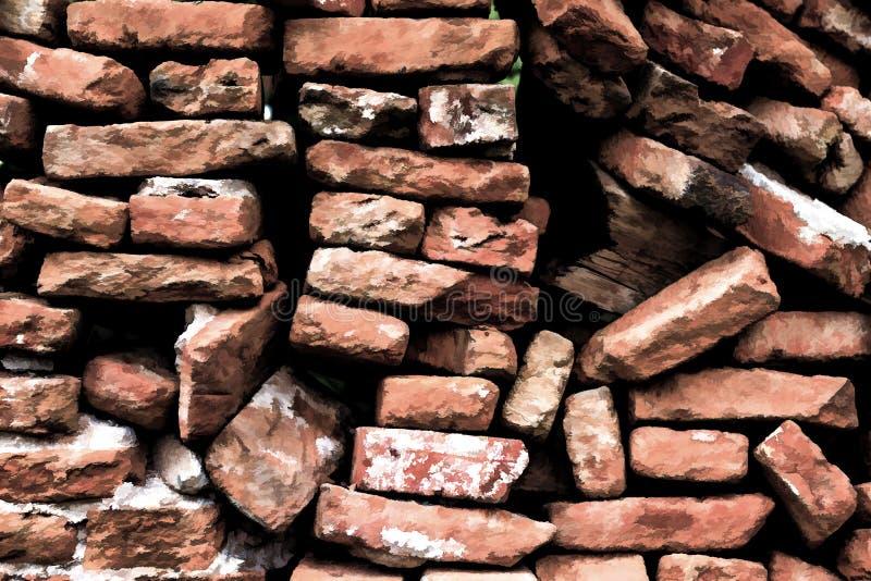 Fundo da textura da parede de tijolo com efeito animado foto de stock