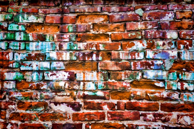 Fundo da textura da parede de tijolo - tijolos alaranjados ?nicos imagens de stock