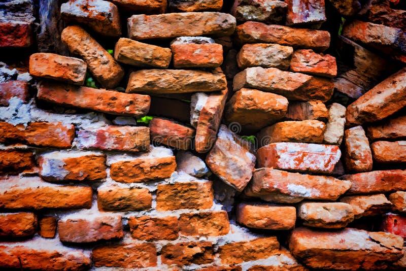 Fundo da textura da parede de tijolo - tijolos alaranjados ?nicos imagem de stock