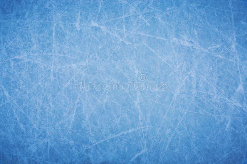 Fundo da textura da superfície da pista de gelo com riscos imagens de stock