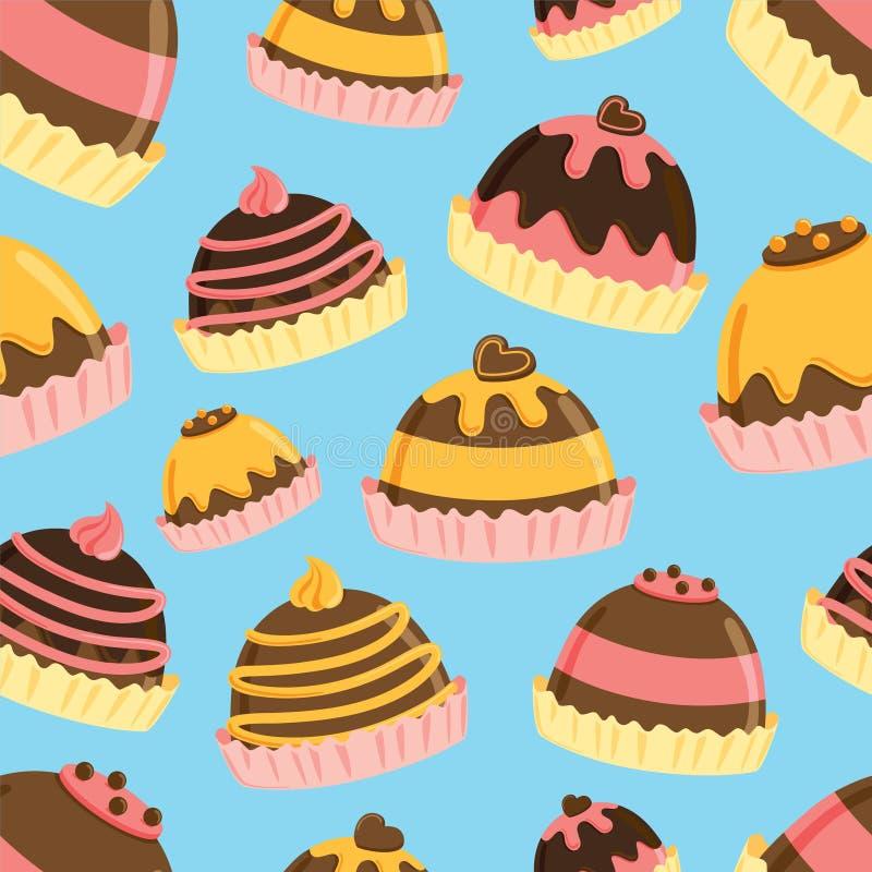 Download Fundo Da Trufa De Chocolate Ilustração Stock - Ilustração de seamless, icing: 29827770