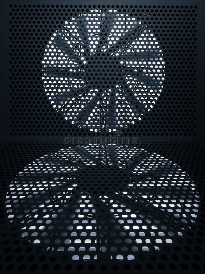 Fundo da turbina do ventilador fotografia de stock royalty free