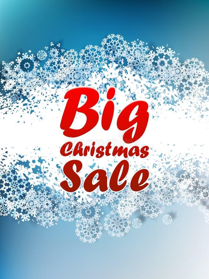 Fundo da venda do Natal. ilustração royalty free