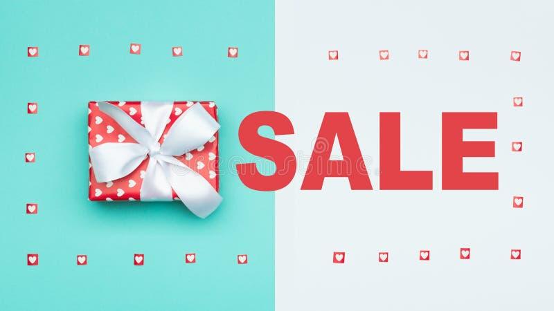 Fundo da venda do Natal Contexto festivo azul pastel da venda da São Estêvão dos feriados de inverno fotos de stock