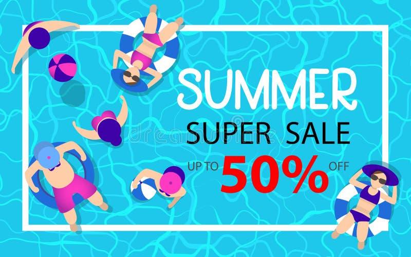 Fundo da venda do verão foto de stock