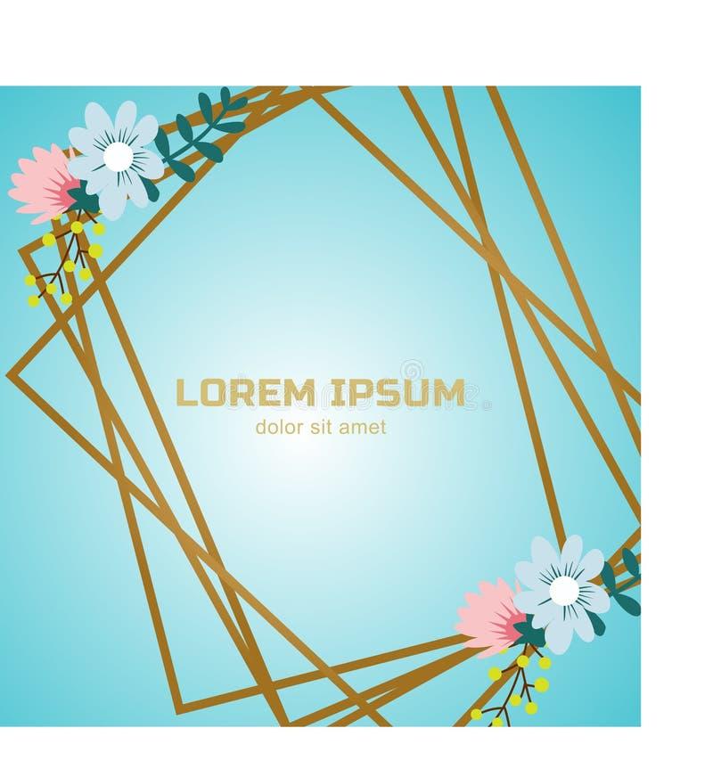 Fundo da venda da mola com flor bonita ilustração stock