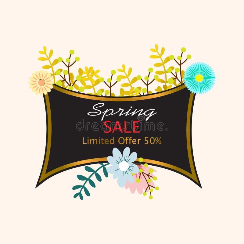 Fundo da venda da mola com flor bonita ilustração royalty free
