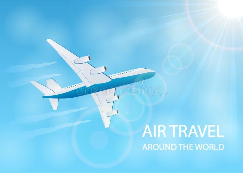 Fundo da viagem aérea ilustração stock