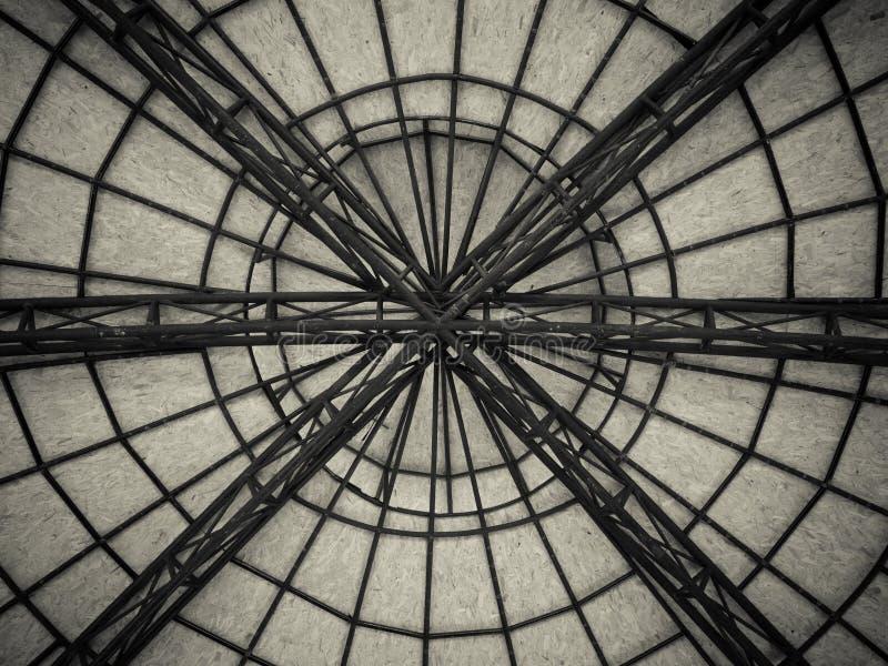 Fundo dado forma do teto da Web de aranha fotografia de stock