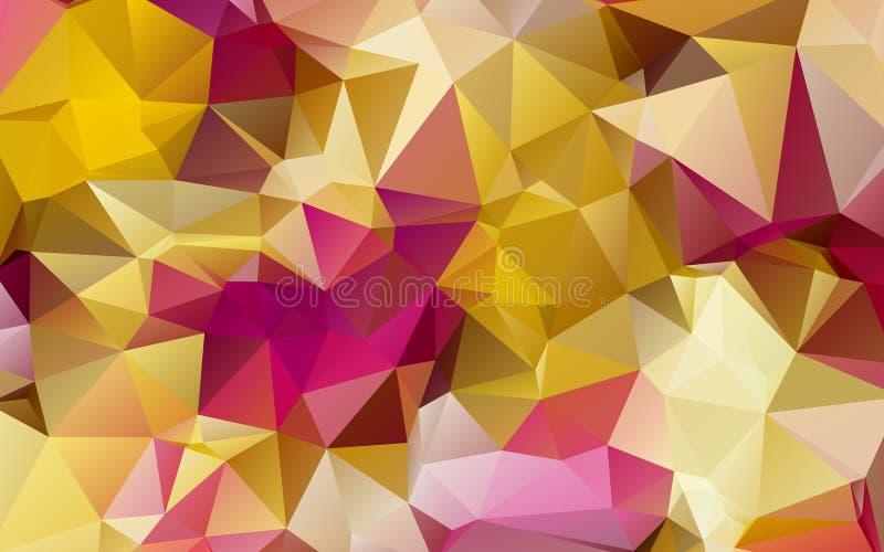 Fundo dado forma sumário do triângulo ilustração royalty free