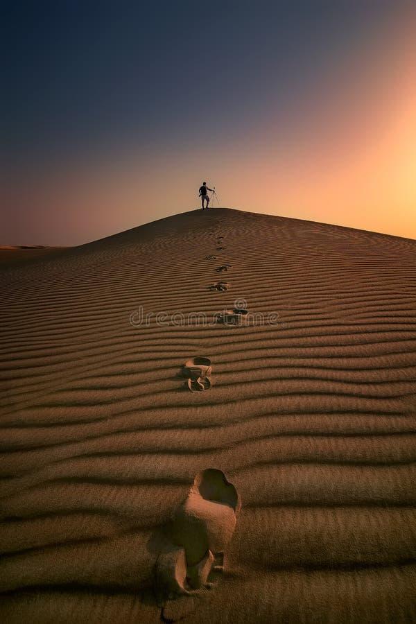 Fundo Dammam Arábia Saudita do nascer do sol do deserto foto de stock royalty free