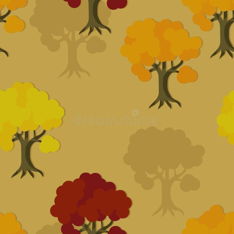 Fundo das árvores do outono ilustração royalty free