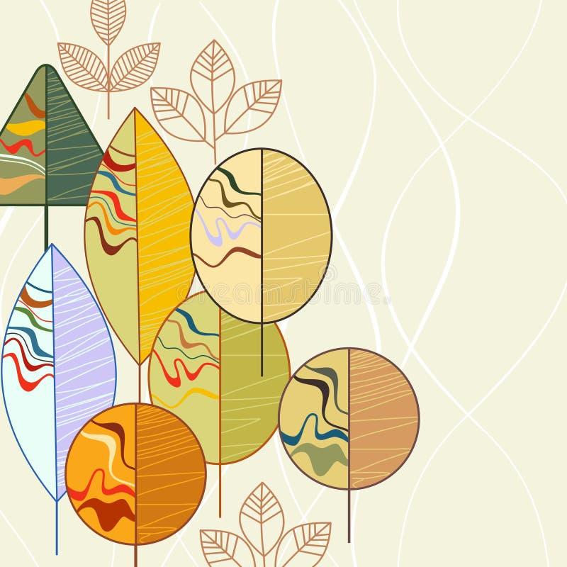 Fundo das árvores do outono ilustração stock