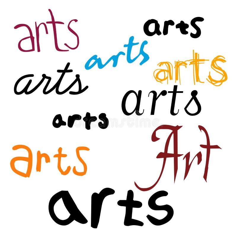 Fundo das artes ilustração royalty free