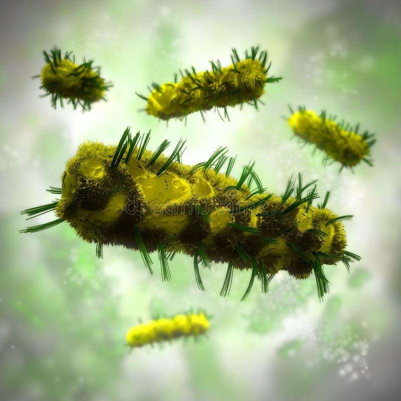 Fundo das bactérias ilustração royalty free