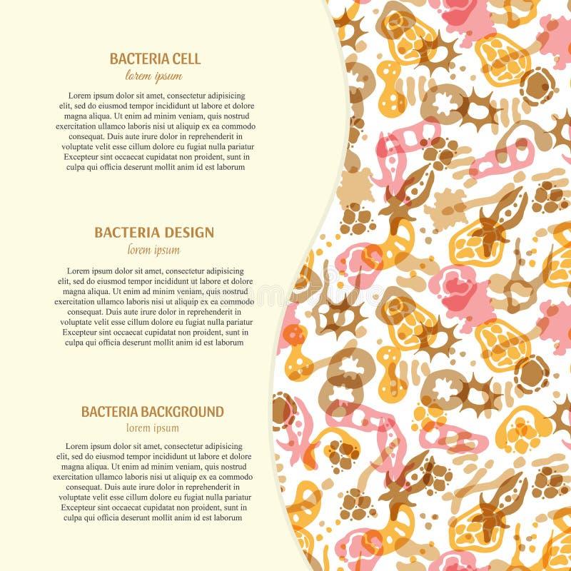 Fundo das bactérias com texto ilustração royalty free