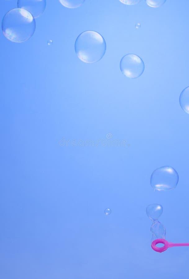 Fundo das bolhas de sab?o fotos de stock