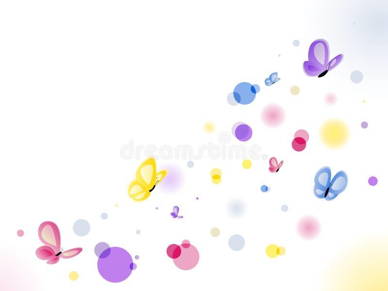 Fundo das borboletas ilustração do vetor