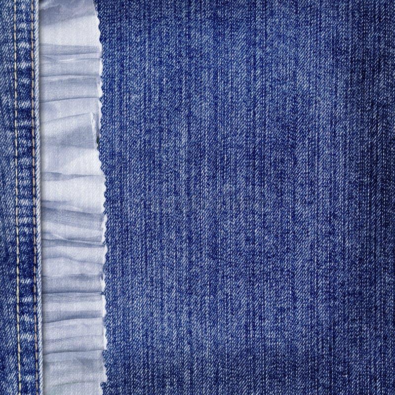 Fundo das calças de brim com laço azul para desing imagem de stock royalty free
