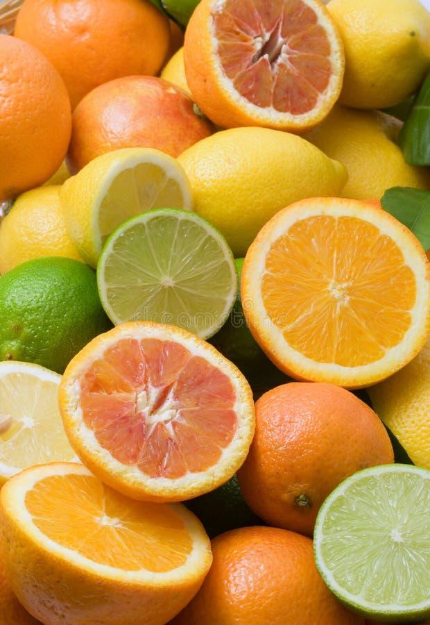 Fundo das citrinas foto de stock