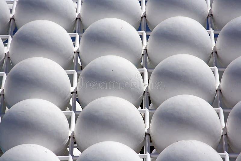 Fundo das esferas brancas fotos de stock royalty free