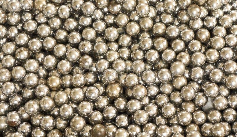 Fundo das esferas de aço fotos de stock