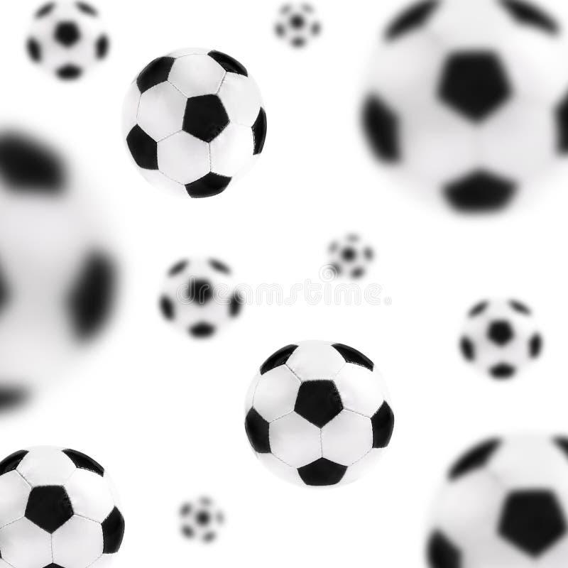 Fundo das esferas de futebol imagens de stock