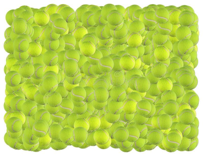 Fundo das esferas de tênis imagem de stock