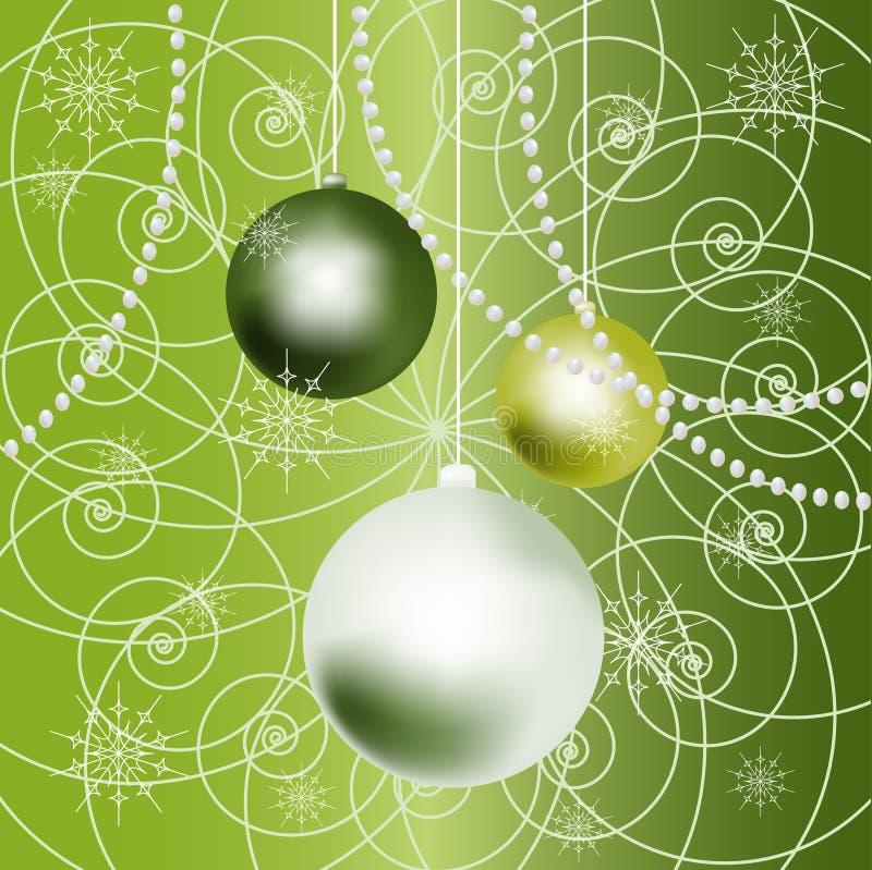 Fundo das esferas do ano novo. ilustração stock