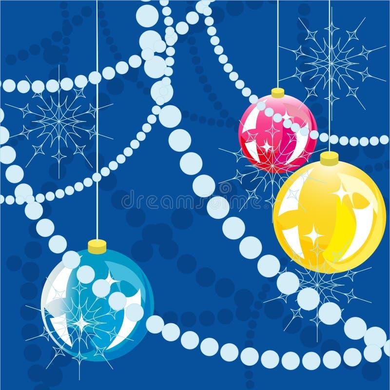 Fundo das esferas do ano novo. ilustração do vetor
