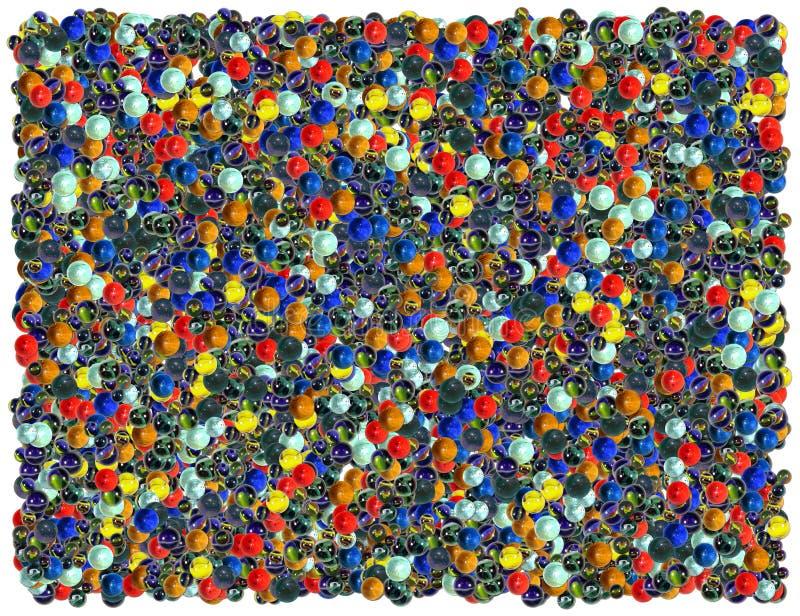 Fundo das esferas do banho ilustração stock