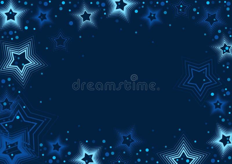 Fundo das estrelas azuis ilustração royalty free