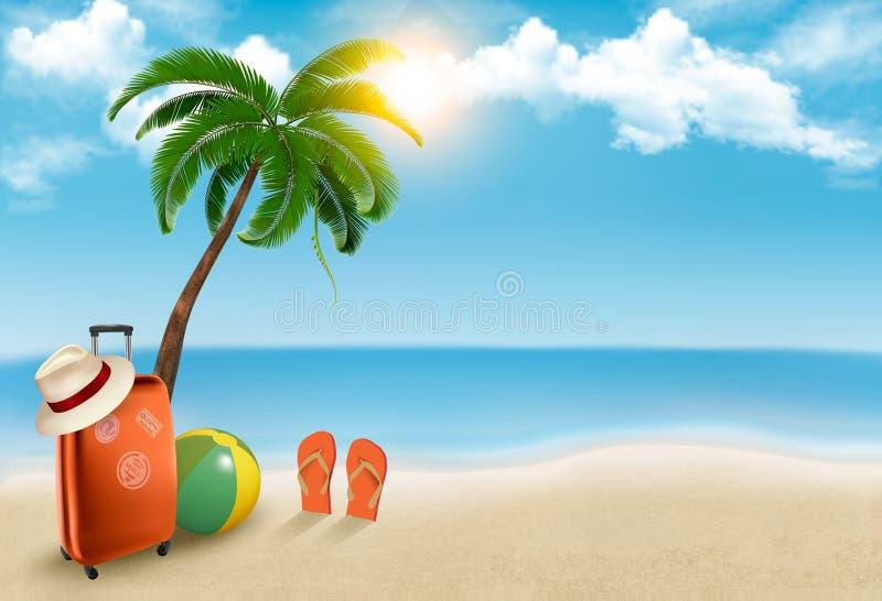 Fundo das férias. ilustração stock
