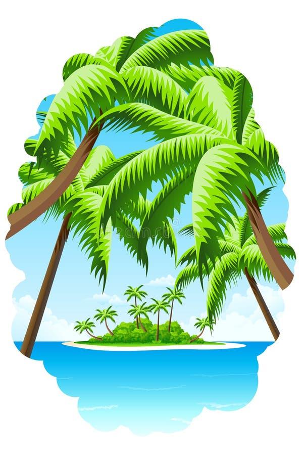 Fundo das férias de verão ilustração stock