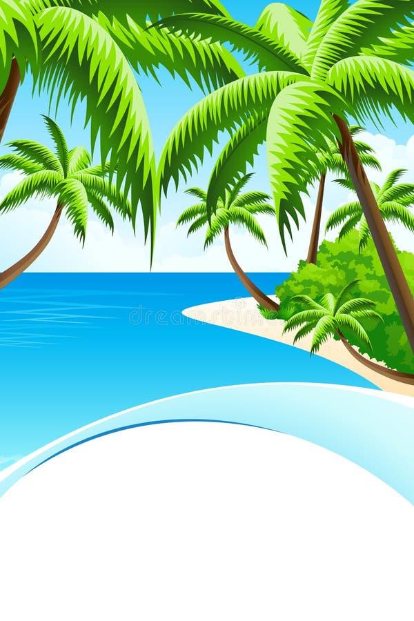 Fundo das férias de verão ilustração do vetor