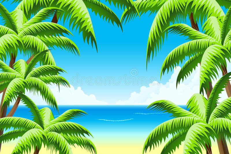 Fundo das férias de verão ilustração royalty free