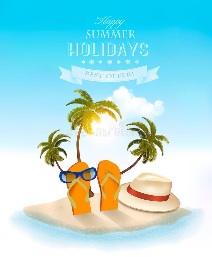 Fundo das férias de verão Memórias das férias ilustração royalty free