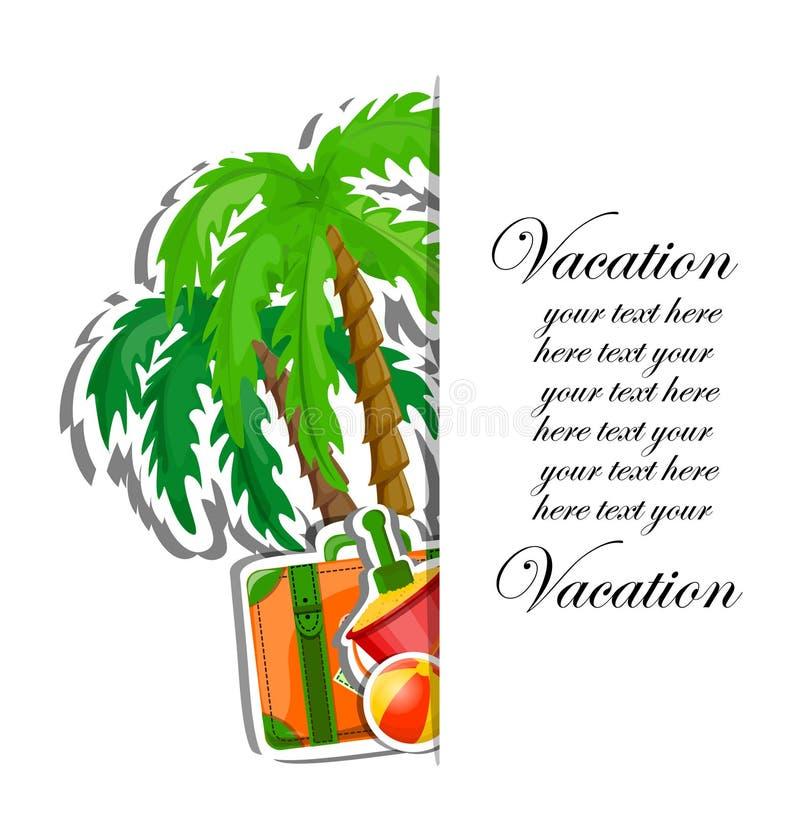 Fundo das férias e do curso ilustração royalty free