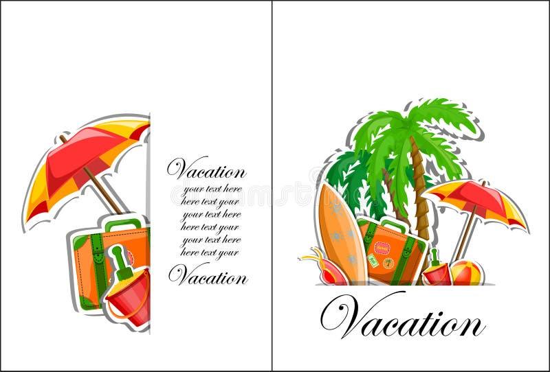 Fundo das férias e do curso ilustração do vetor