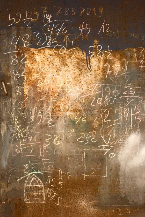 Fundo das fórmulas matemáticas imagens de stock royalty free