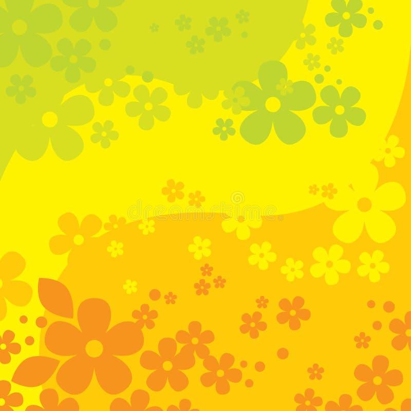 Fundo das flores (ilustração) ilustração do vetor