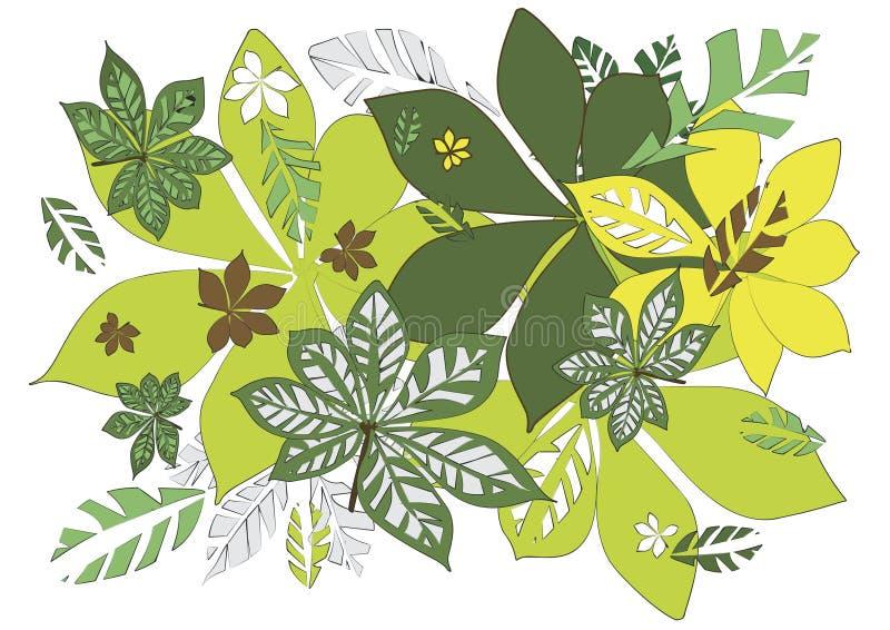 Download Fundo das folhas ilustração do vetor. Ilustração de lush - 10058073