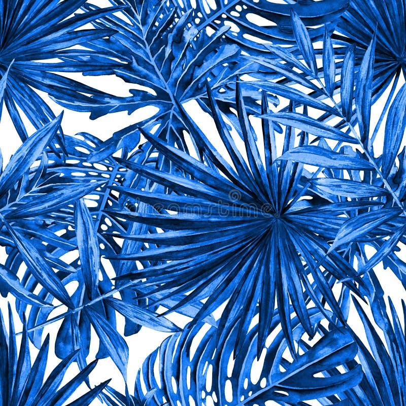 Fundo das folhas de palmeira ilustração royalty free