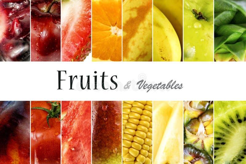 Fundo das frutas e verdura fotografia de stock royalty free