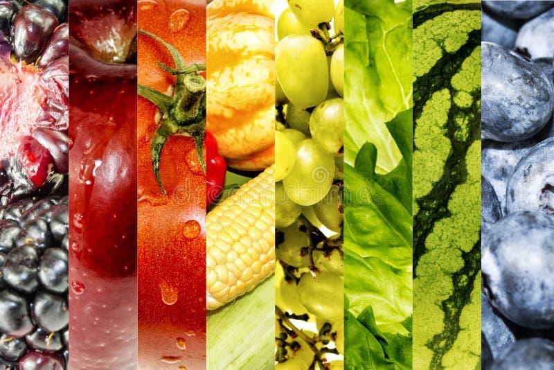 Fundo das frutas e verdura imagem de stock