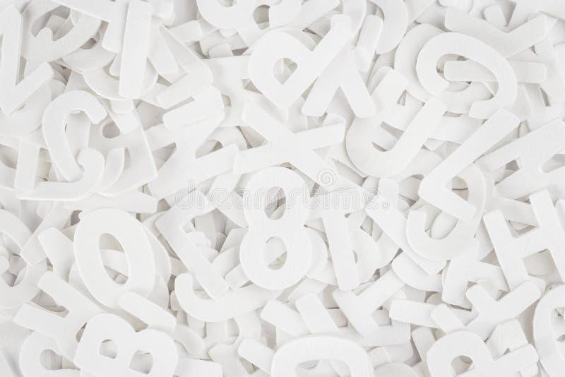 Fundo das letras do alfabeto da escola fotografia de stock