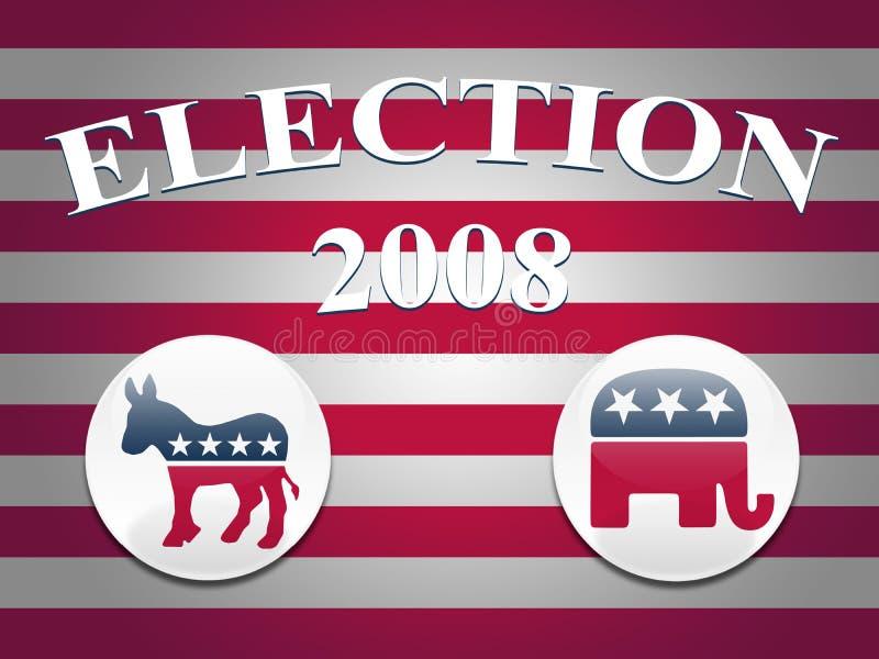 Fundo das listras da eleição 2008 ilustração royalty free