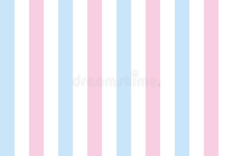 Fundo das listras no rosa e azul ilustração stock
