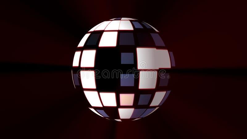 Fundo das luzes da bola do disco - imagem alegre colorida universal nova do estoque do feriado da música de dança imagem de stock royalty free